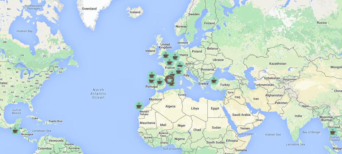 Mapa de brunch viajero