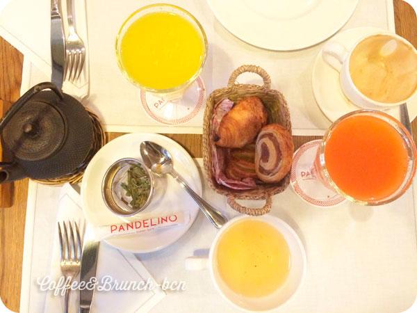 Bollos y zumos del brunch en Coruña en Pandelino
