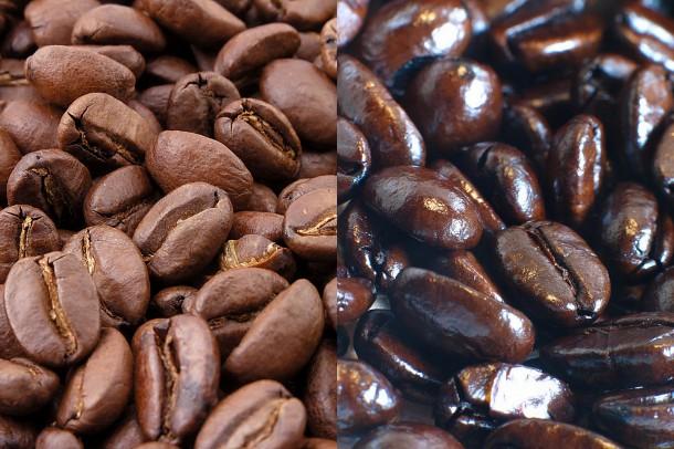 Café natural y café torrado
