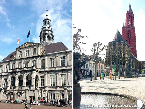 Iglesias y ayuntamiento en Maastricht