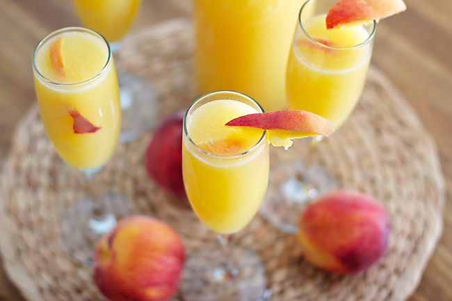 Mimosa con melocotón