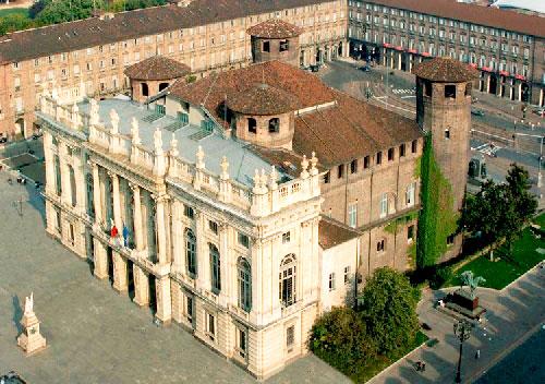 Precioso palazzo Madama, Turín, Italia