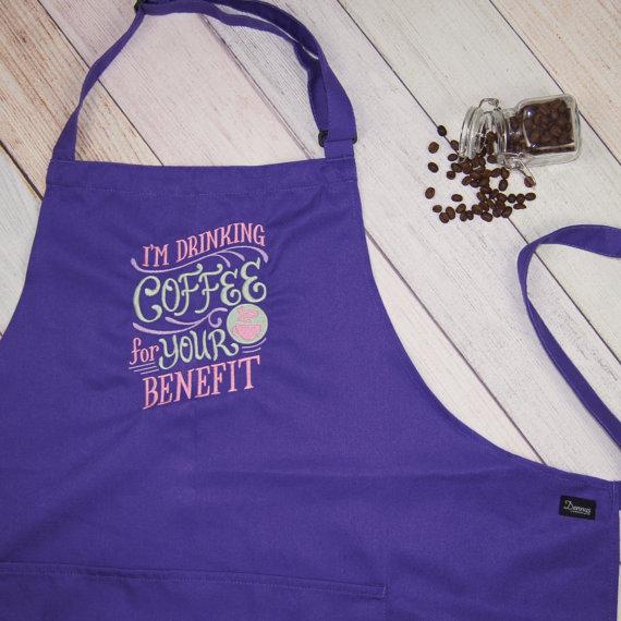 Delantal para quien ama el café