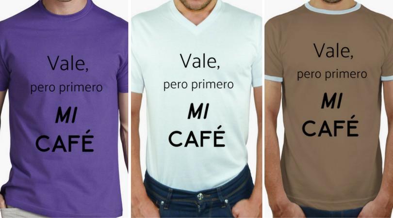 Camisetas hombre coffee lover