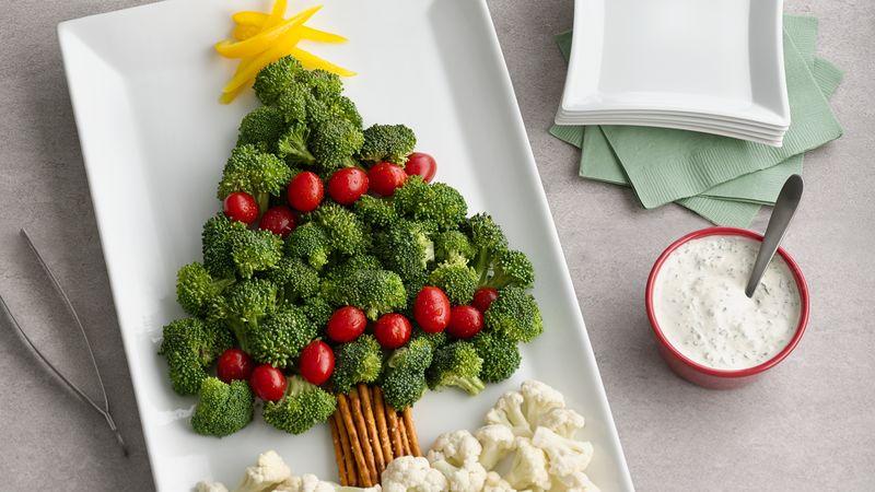 Árbol de Navidad con verduras - Recetas brunch navideño