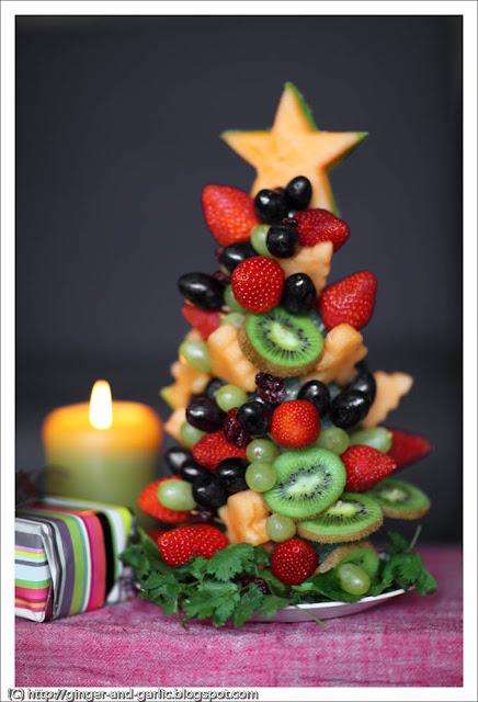Árbol de Navidad con fruta - Recetas brunch navideño