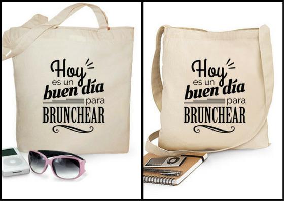 """Bolsa de algodón """"Hoy es un buen día para brunchear"""" - Regalos brunch lovers"""