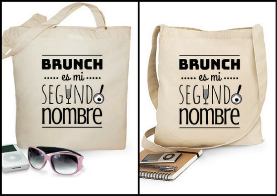 """Bolsa tela """"Brunch es mi segundo nombre"""" - Regalos brunch lovers"""