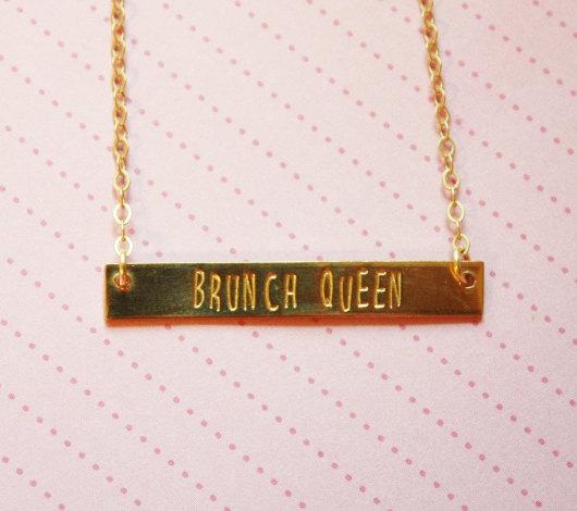 Collar reina del brunch - Regalos brunch lovers