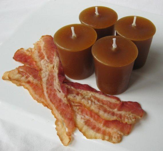 Vela con olor a beicon - Regalos para brunch lovers