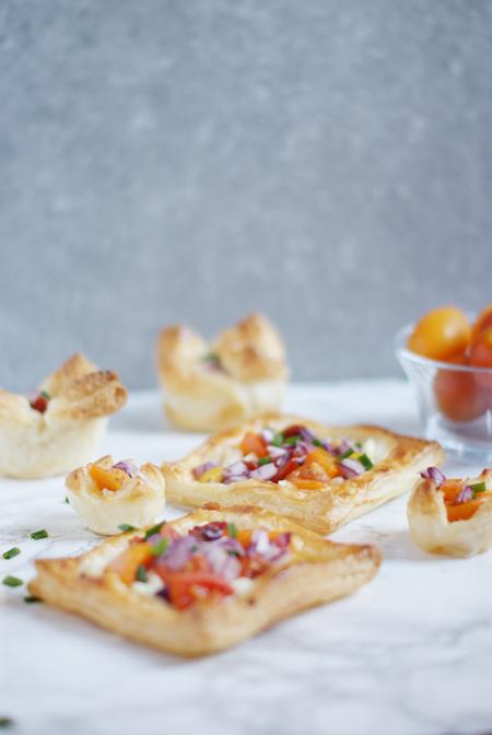 Tartaletas vegetarianas de hojaldre - Receta fácil de brunch