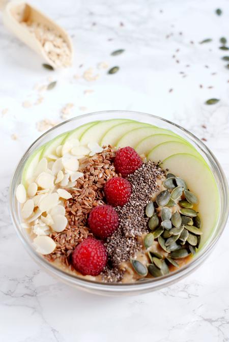 Receta de brunch saludable - Porridge vegano de manzana