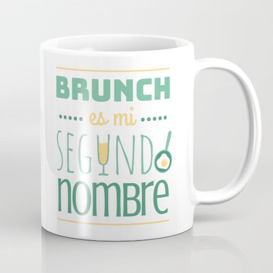 Tazas para regalar - brunch es mi segundo nombre