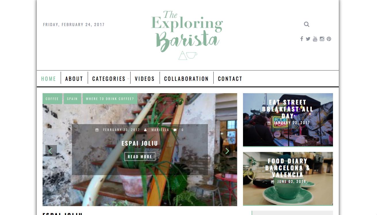 Blog the exploring barista