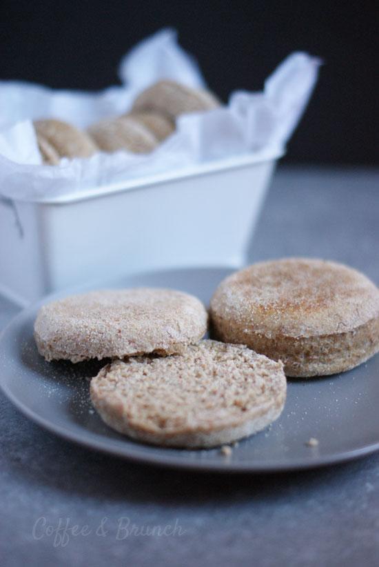 Muffins ingleses saludables o English muffins - Receta de brunch